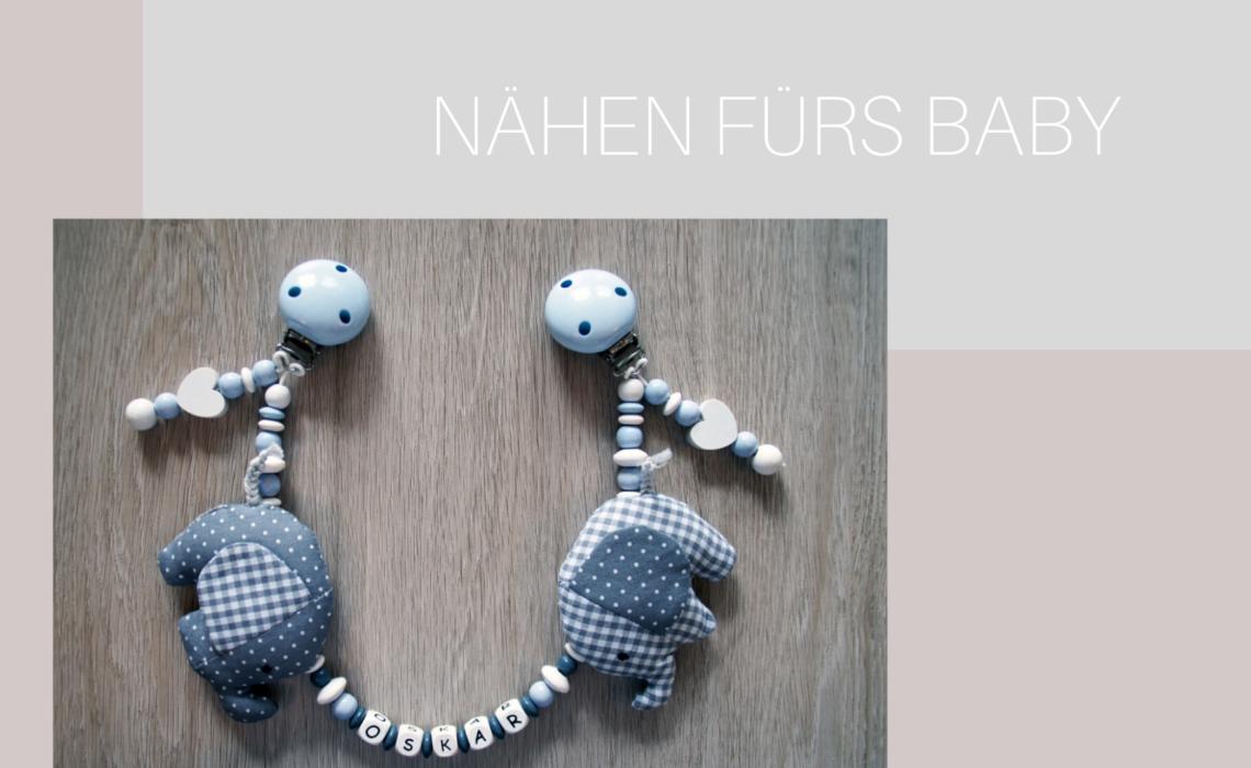 Kinderwagenkette Elefant mit Name – Anleitung