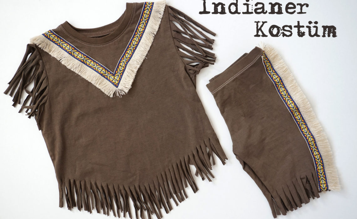 DIY – schnelles Indianer Kostüm – ohne Nähen