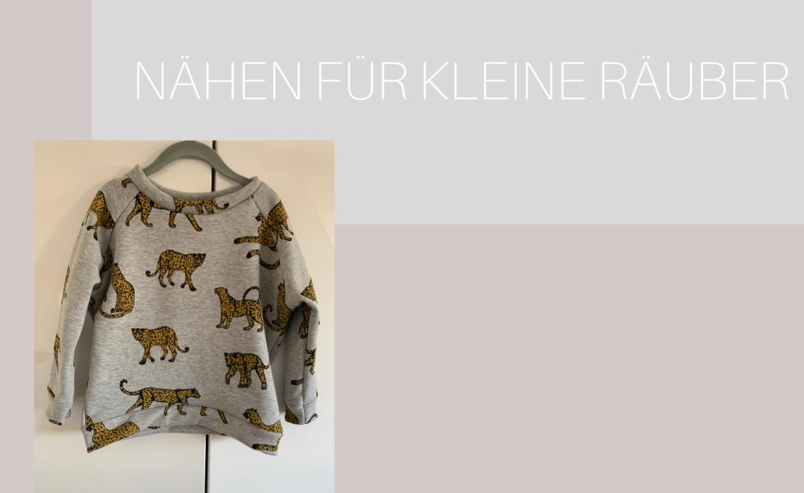 "Kinder Sweatshirt ""Mona"" mit Leoparden"