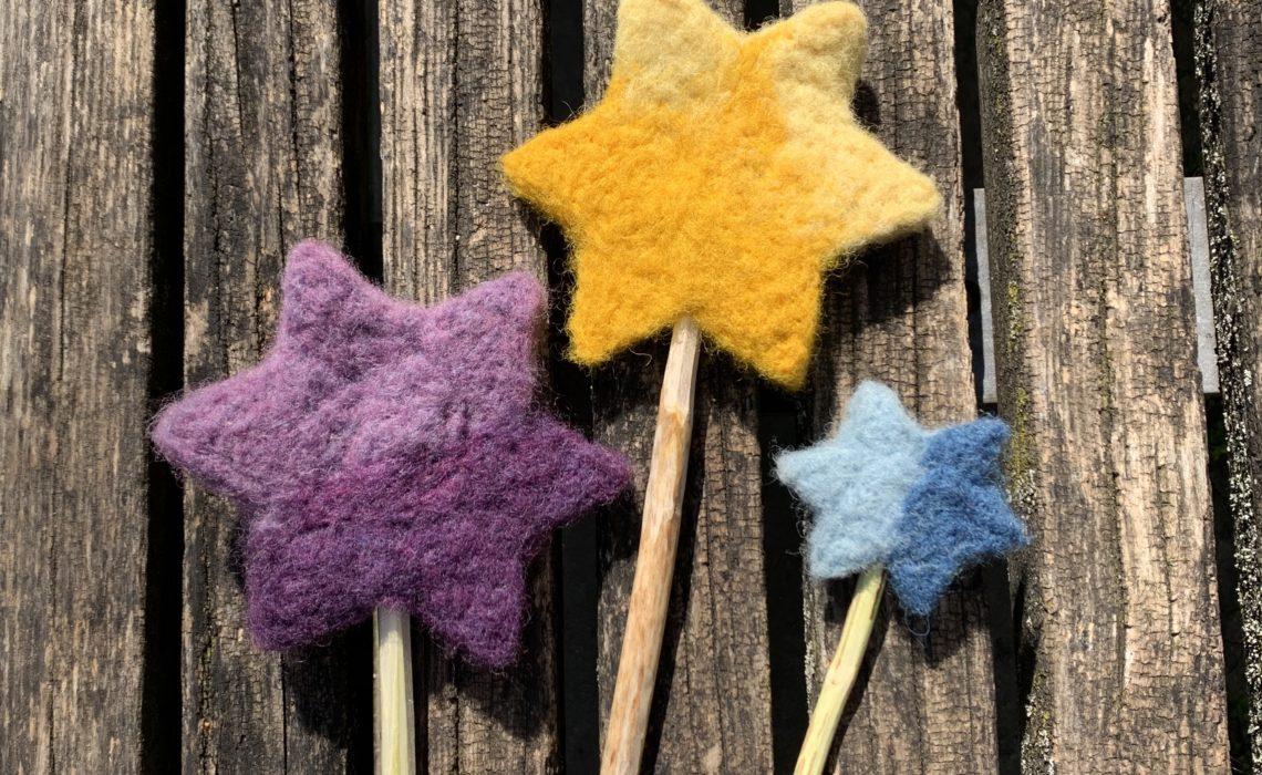 Zauberstab aus Märchenwolle filzen